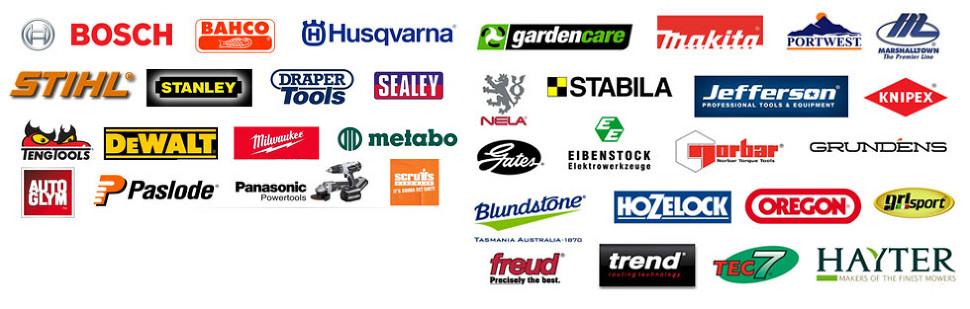 Major brands' logos