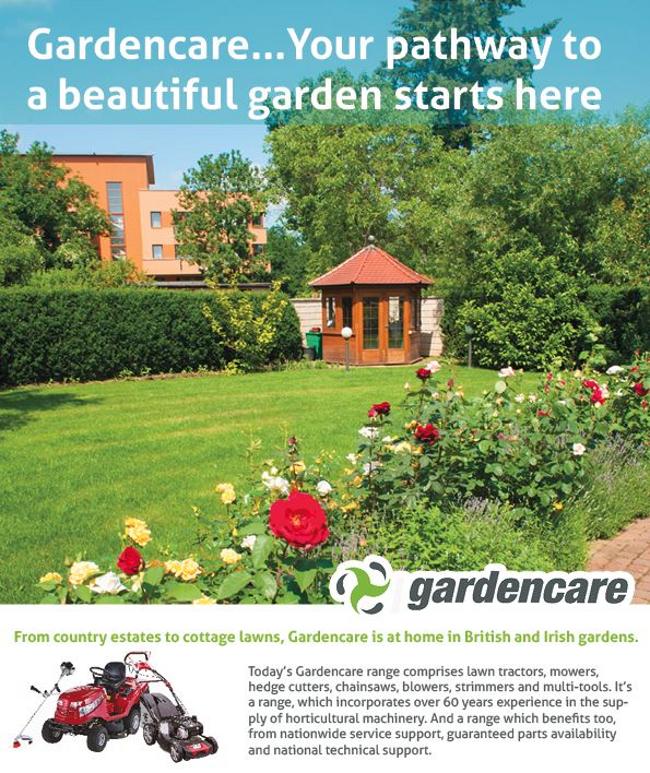 Beautiful garden with an outdoor building